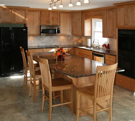 permanent kitchen islands butcher block island with seating natural kitchen