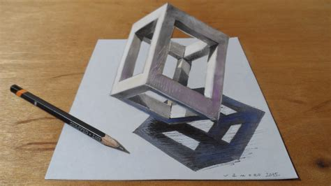 draw 3d how to draw 3d cube drawing 3d cube standing cube at