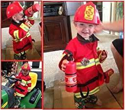 halloween costumes for a 3 year old boy amazon com melissa amp doug fire chief role play costume