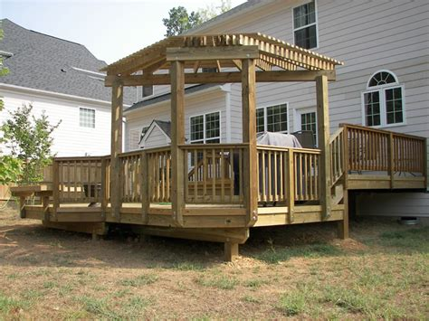 how to attach a pergola to a deck outdoor goods