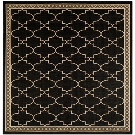 Square Indoor Outdoor Rug Safavieh Courtyard Black Beige 7 Ft 10 In X 7 Ft 10 In Indoor Outdoor Square Area Rug