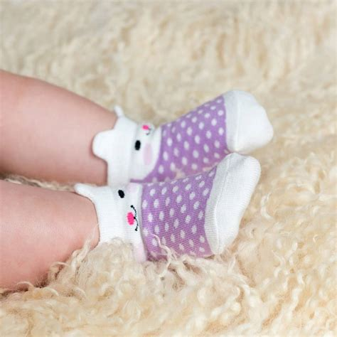 Baby Set Of 4 Socks set of four pairs of newborn baby socks bunny by