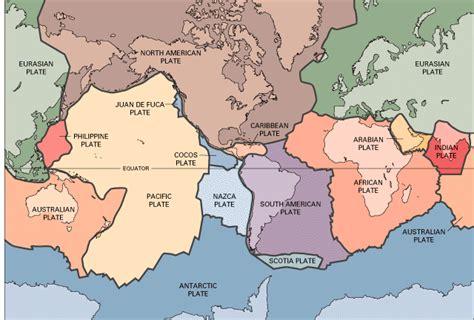 plate boundaries map evolving earth plate tectonics