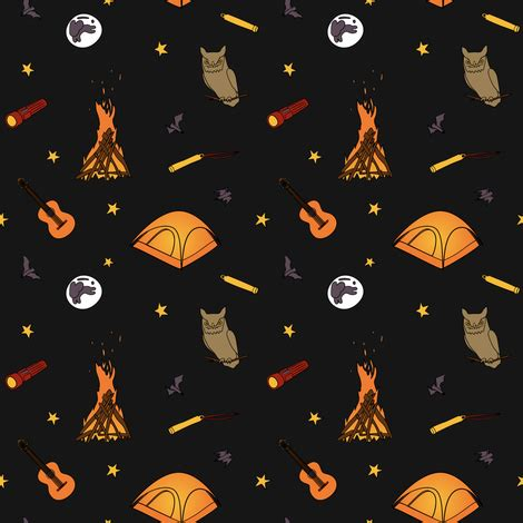 summer camp: nighttime fabric 13sparrows spoonflower