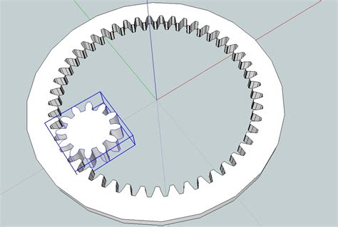 gear template drawing gears in sketchup capolight electronics projects
