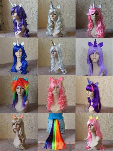 Wig Poni Depan Curly diy unicorn costume