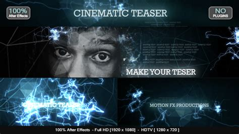Cinematic Teaser Abstract After Effects Templates F5 Design Com Cinematic After Effects Template