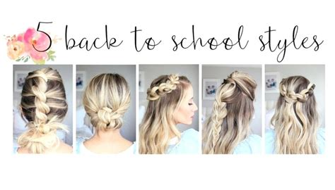 unique back to school hairstyles unique turial cute easy hairstyles school videos cute back