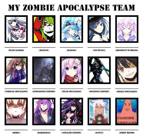 Zombie Apocalypse Team Meme - funny parody memes favourites by acerr85 on deviantart