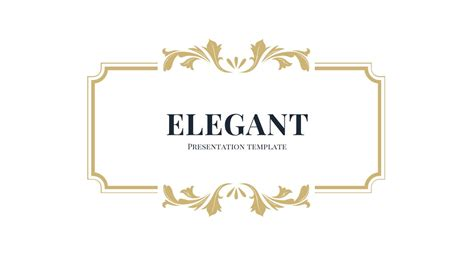 free elegant powerpoint template ppt presentation theme
