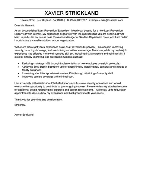 cover letter for supervisor of special education loss prevention supervisor cover letter exles