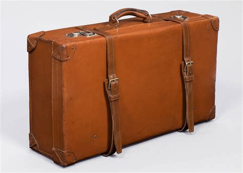 Art Deco Home Interiors by French Vintage Leather Suitcase At 1stdibs
