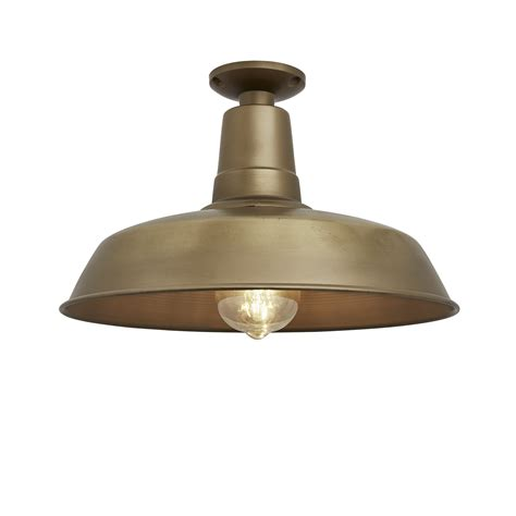 Ceiling Mount Lighting Vintage Industrial Flush Mount Farmhouse Ceiling Light Brass Industville