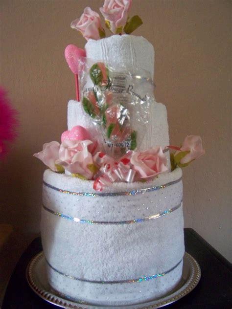 Bridal Shower Towel Cake by Wedding Shower Towel Cake