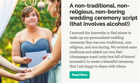 Wedding Blessing Ceremony Script by Non Traditional Ceremony Script