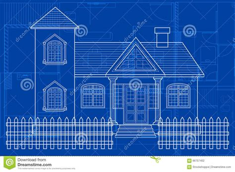 building blueprint blueprint of building stock vector image of digital