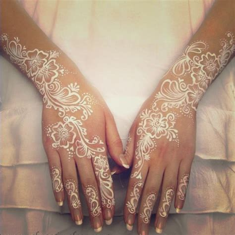 sold out 3x white national indian henna tattoo from