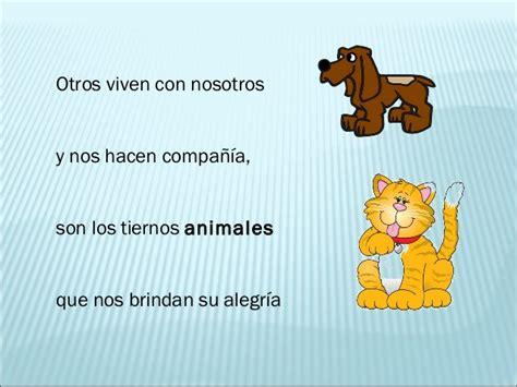 poema de los animales de 4 estrofas que rimen poesia los animales