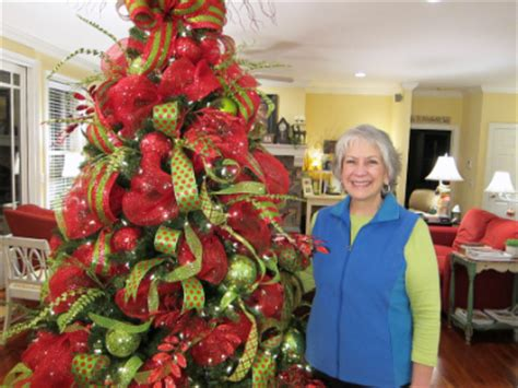 decorating the christmas tree with mesh deco mesh tree ladybug wreaths by nancy