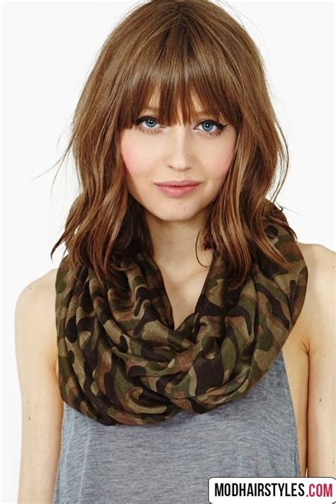 Hairstyles For With Medium Hair 2016 by Medium Haircuts With Bangs 30 Gorgeous Medium Haircut