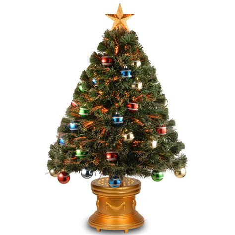 fibre optic xmas trees kmart national tree co 36 quot fiber optic fireworks glittered balls green blue yellow ornament