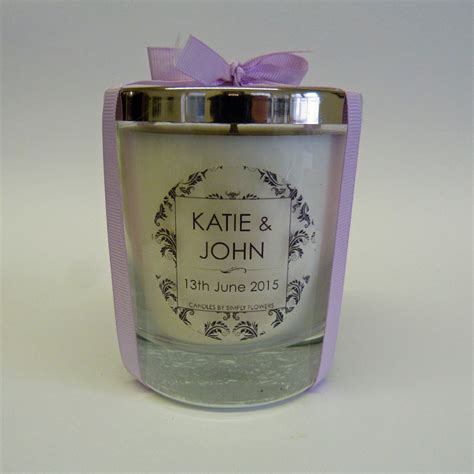 Personalised Wedding Favours by Personalised Wedding Favour Large Glass Candle Candles