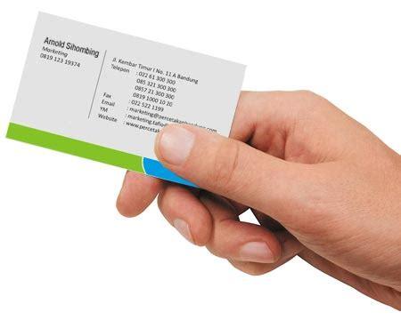 Kartu Nama 1 Muka Bw220 cetak kartu nama murah harga dan spesifikasi
