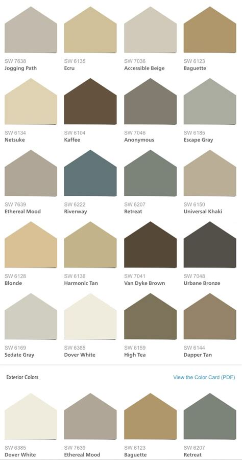 colour shades with names for external home sherwin williams hgtv home neutral nuance color palette