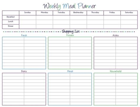 printable meal prep planner 118 best meal planning grocery list printables images on