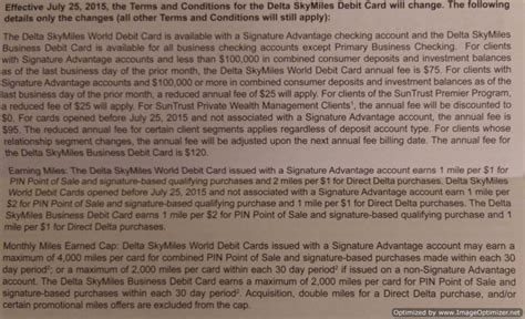 Suntrust Bank Letter Of Credit Negatives Changes To The Delta Earning Debit Card From Suntrust Doctor Of Credit