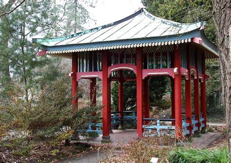 pavillon japanische laube im garten