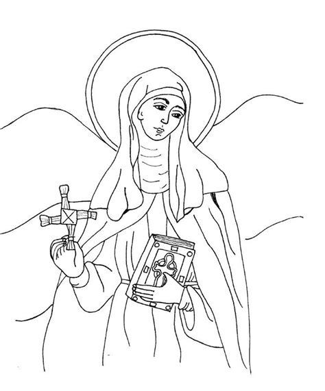 St Brigid S Day Lesson With An E St Coloring Pages