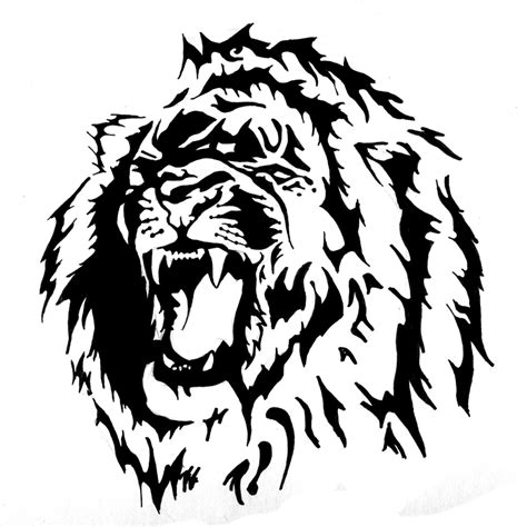 lion tattoo designs free 18 magnificent tribal only tribal