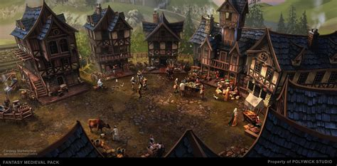 Housing Styles by Asset Fantasy Medieval Town Assets Pack Unity Community