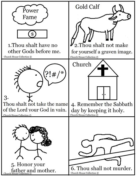 printable coloring pages for ten commandments 10 commandments free printables search results