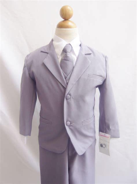 light grey toddler suit gray silver boy infant toddler formal suit for ring