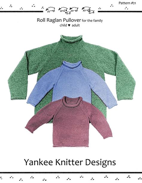 pattern for knitted roll neck sweater roll neck raglan sweater yankee knitter knitting