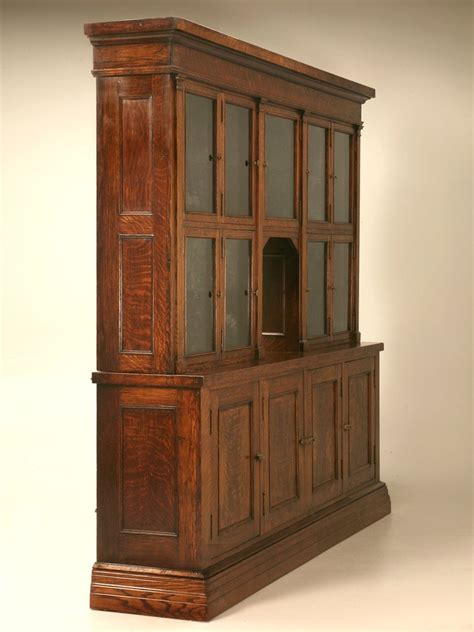 Spectacular Original Antique General Store Tobacco Cabinet in Quarter Sawn Oak at 1stdibs