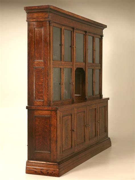 Spectacular Original Antique General Store Tobacco Cabinet in Quarter Sawn Oak at 1stdibs