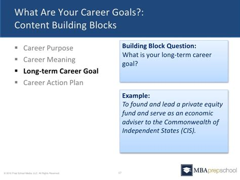 Mba Goals by Career Goals Sle Colomb Christopherbathum Co