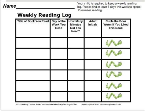 printable reading log for kindergarten classroom freebies too reading log freebie