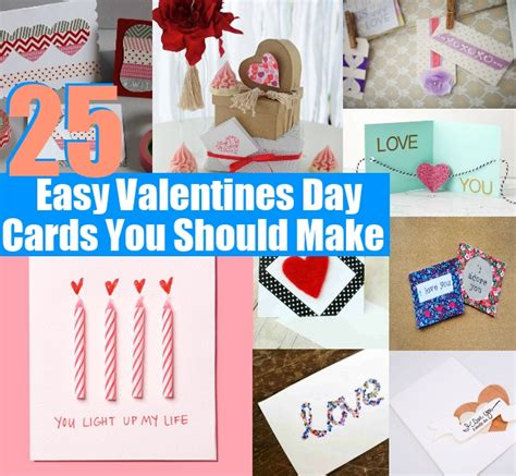 simple things to do for valentines day 25 unique and easy valentines day cards you should make