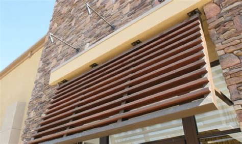 wooden awning wood grain decorative awnings decoral system