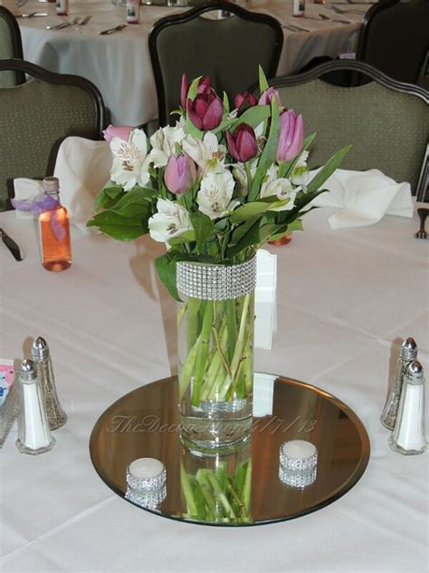 Vases Centerpieces by Centerpiece Cylinder Vase Lot Silver Bling By Thedeevashop