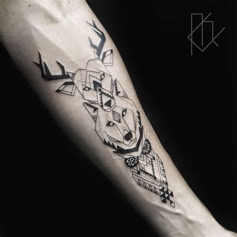 geometric animal tattoo tattoo pinterest animal