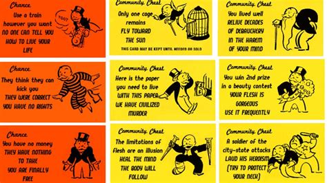 monopoly chance and community chest cards template let madness into monopoly with alternate chance and