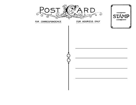 free card postcard template diy postcard save the date back wedding stationary