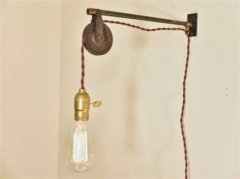 Wall Hanging Lights Vintage Industrial Pulley L Wall Mount Pendant Light