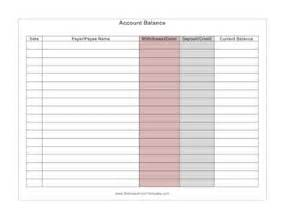 Checking Account Balance Sheet Template by Account Balance Template