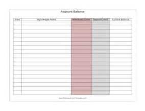 checking account balance sheet template account balance template
